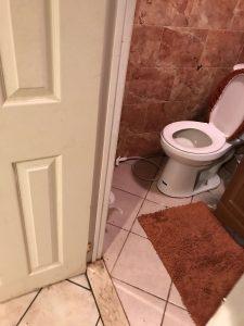 Water Damage in Bathroom